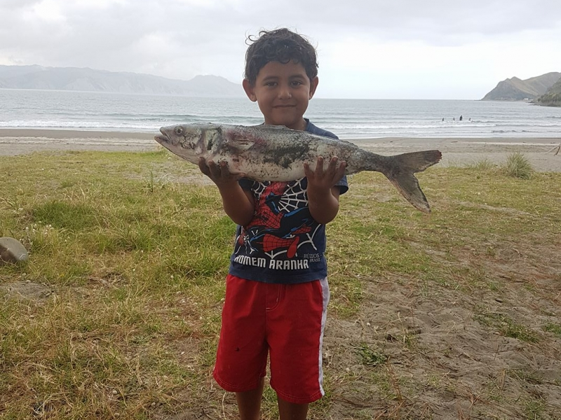 Fishing fun at Mahia