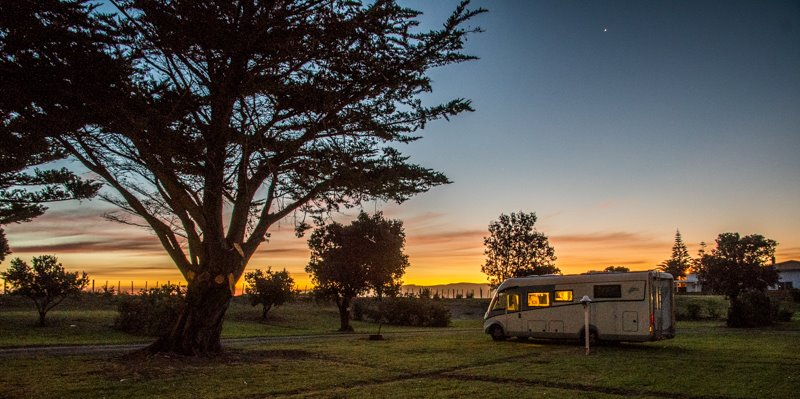 Camping in Motor home