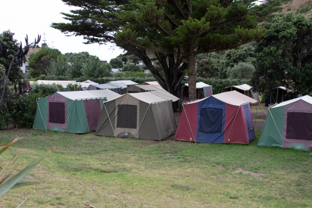 Camping at Mahia Holiday Park