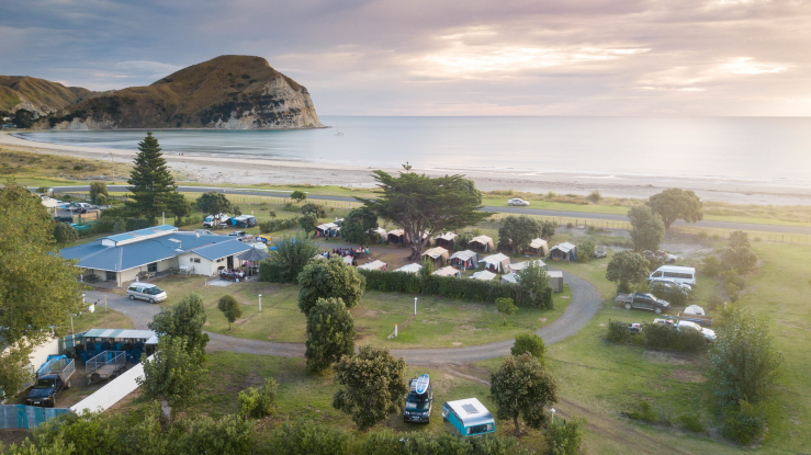 Mahia Holiday Park Located on Mahia Beach