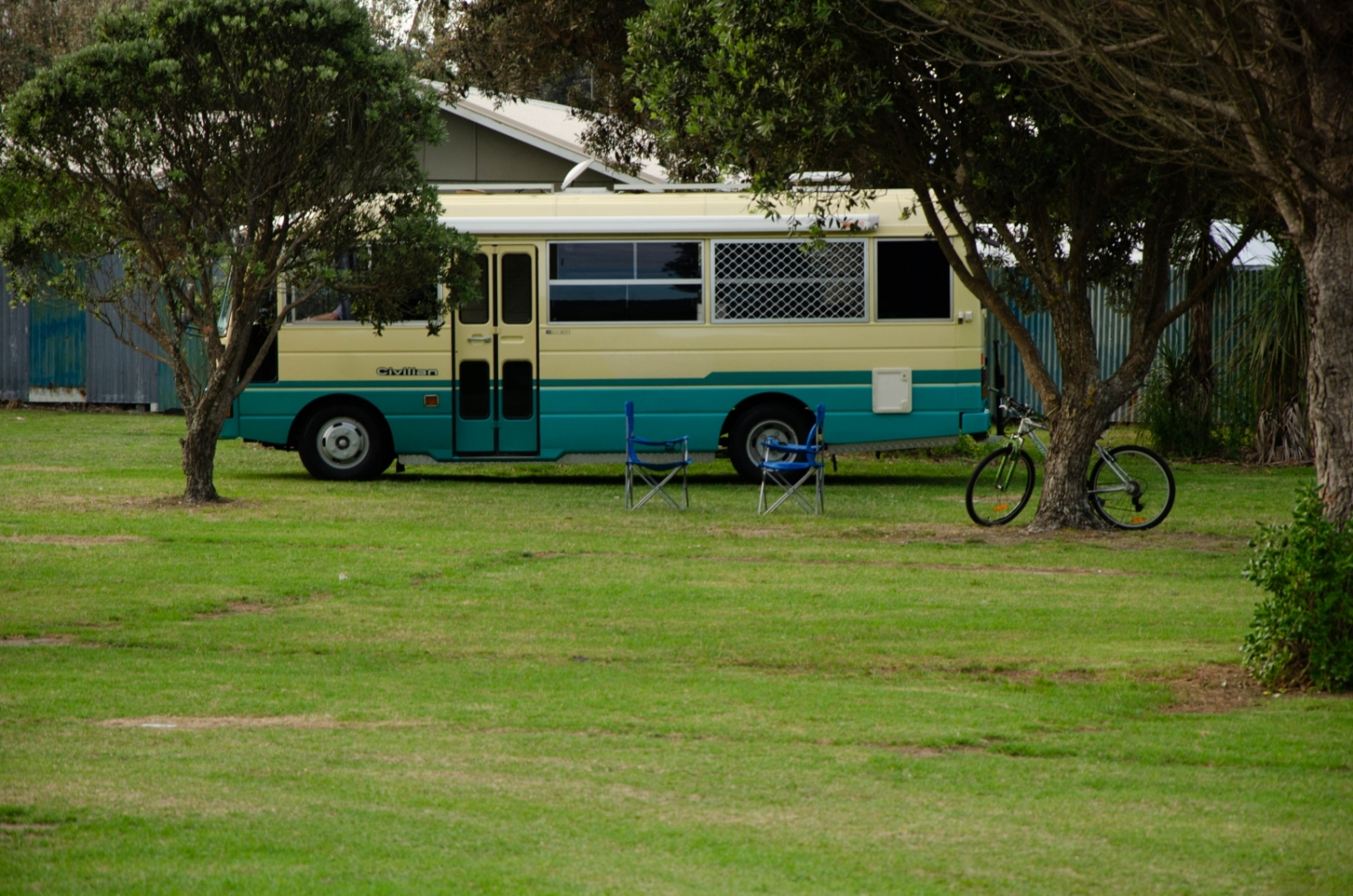 Campervan at Mahia Holiday Park