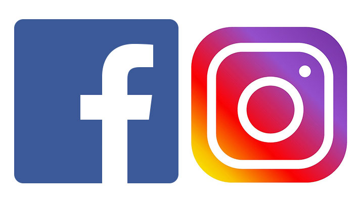 Facebook and Instagram.