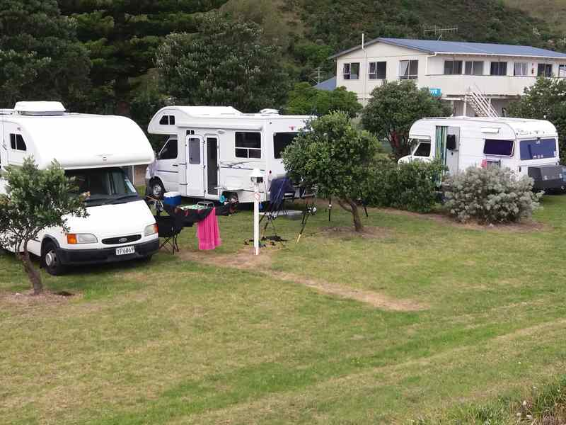 Campervans at Mahia Holiday Park