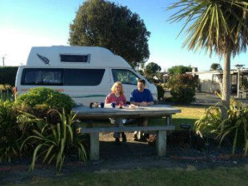 Camping at Mahia