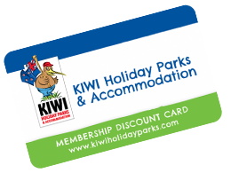 Kiwi Holiday Parks Membership card